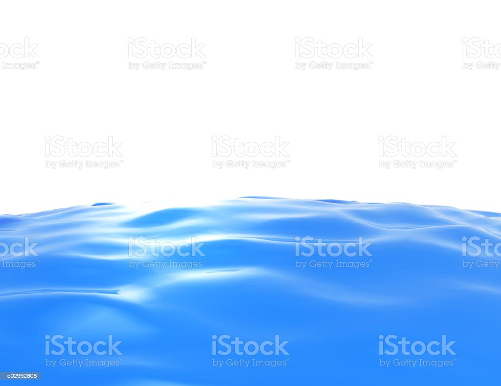 isolated cylinder of water on a white background. stock photo