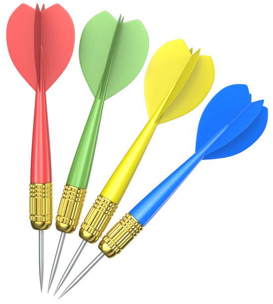 Isolated Dart Arrows. stock photo