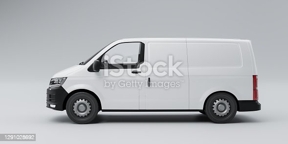 Isolated Delivery Van 3d illustration