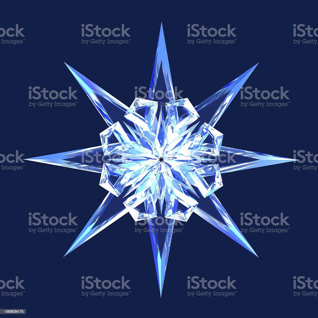 Isolated diamond star stock photo