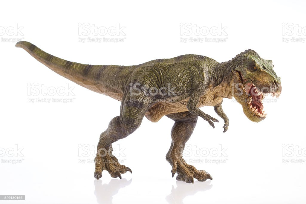 Isolated dinosaur on white background stock photo