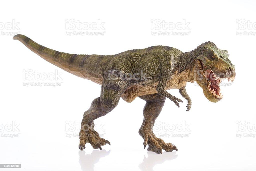 白い背景の上に孤立した恐竜 ストックフォト