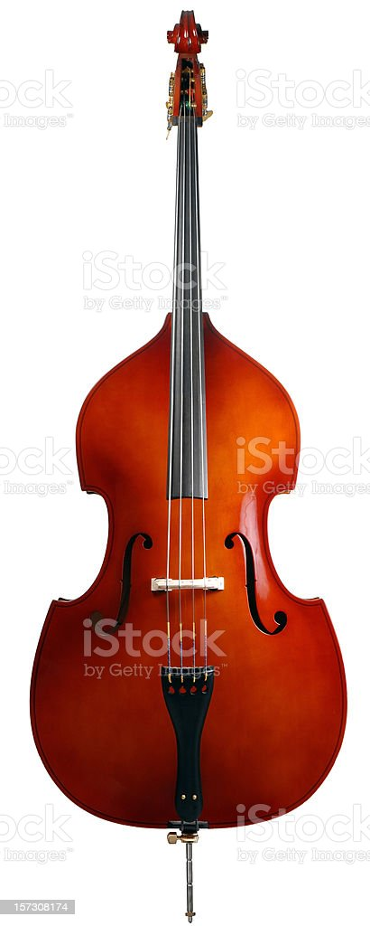 Isolated Double Bass - Full Vertical stock photo