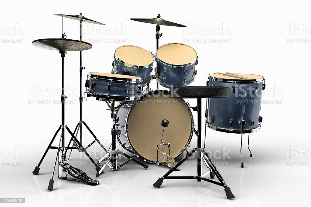 Isolated Drums stock photo
