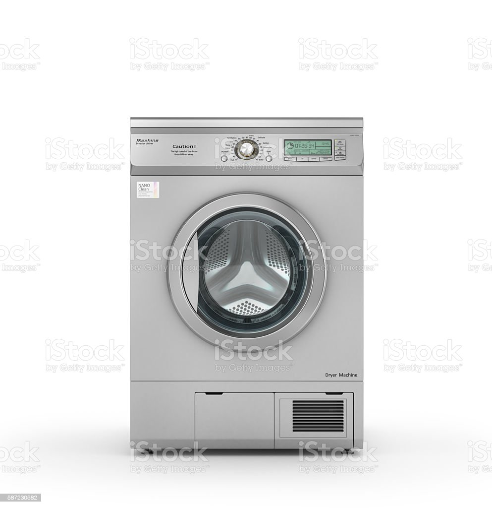 Isolated Dryer machine stock photo