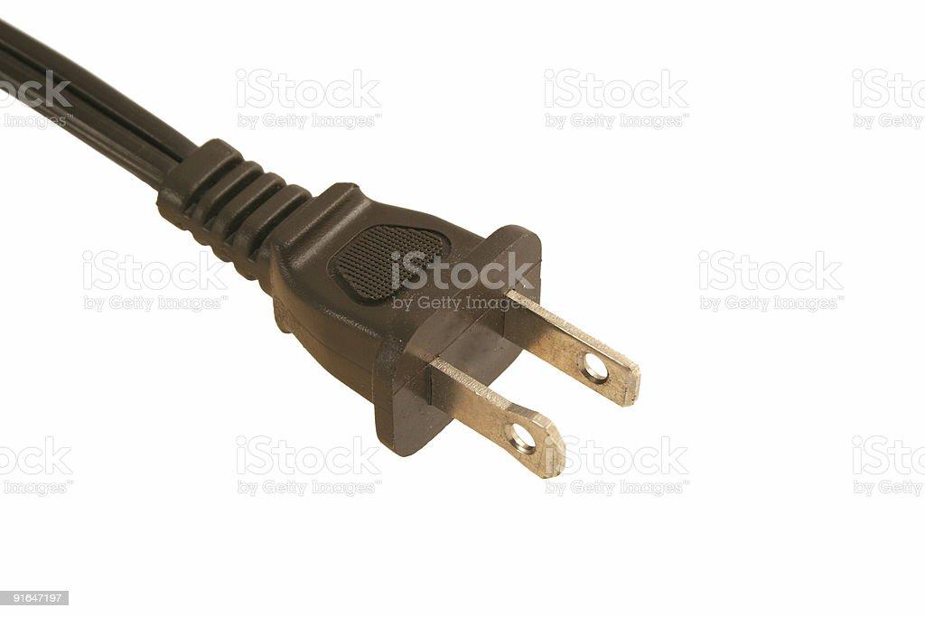 Isolated Electric cord plug stock photo