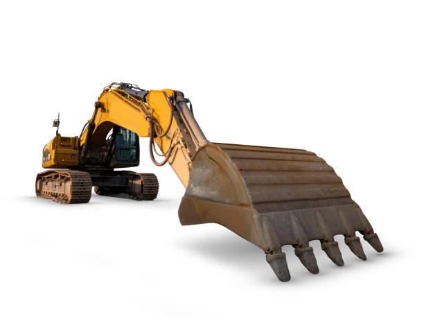 Isolated excavator stock photo