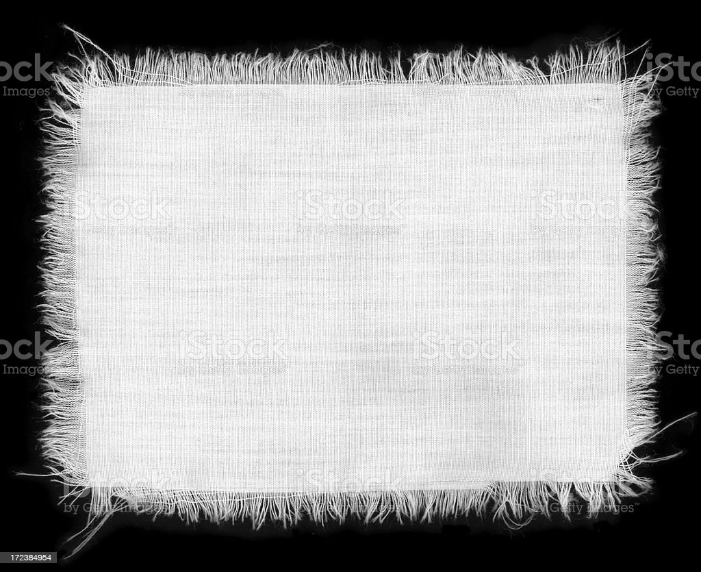 Isolated Fabric Texture stock photo