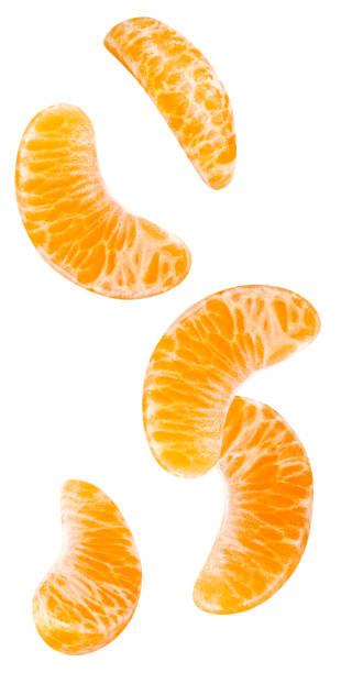 Isolierte fallenden orange Segmente. – Foto