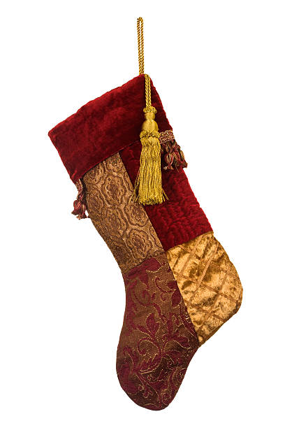 isolated fancy christmas stocking a holiday ornament stock photo istock
