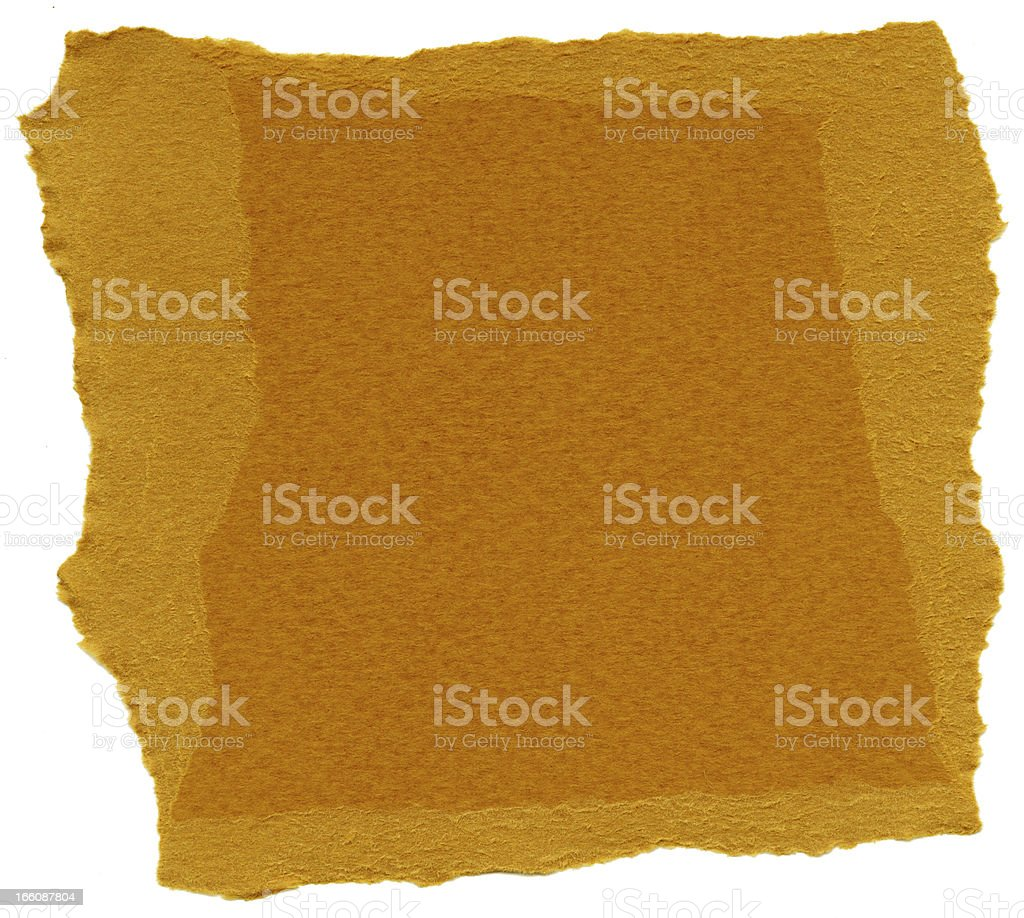 Isolated Fiber Paper Texture - Rust XXXXL royalty-free stock photo