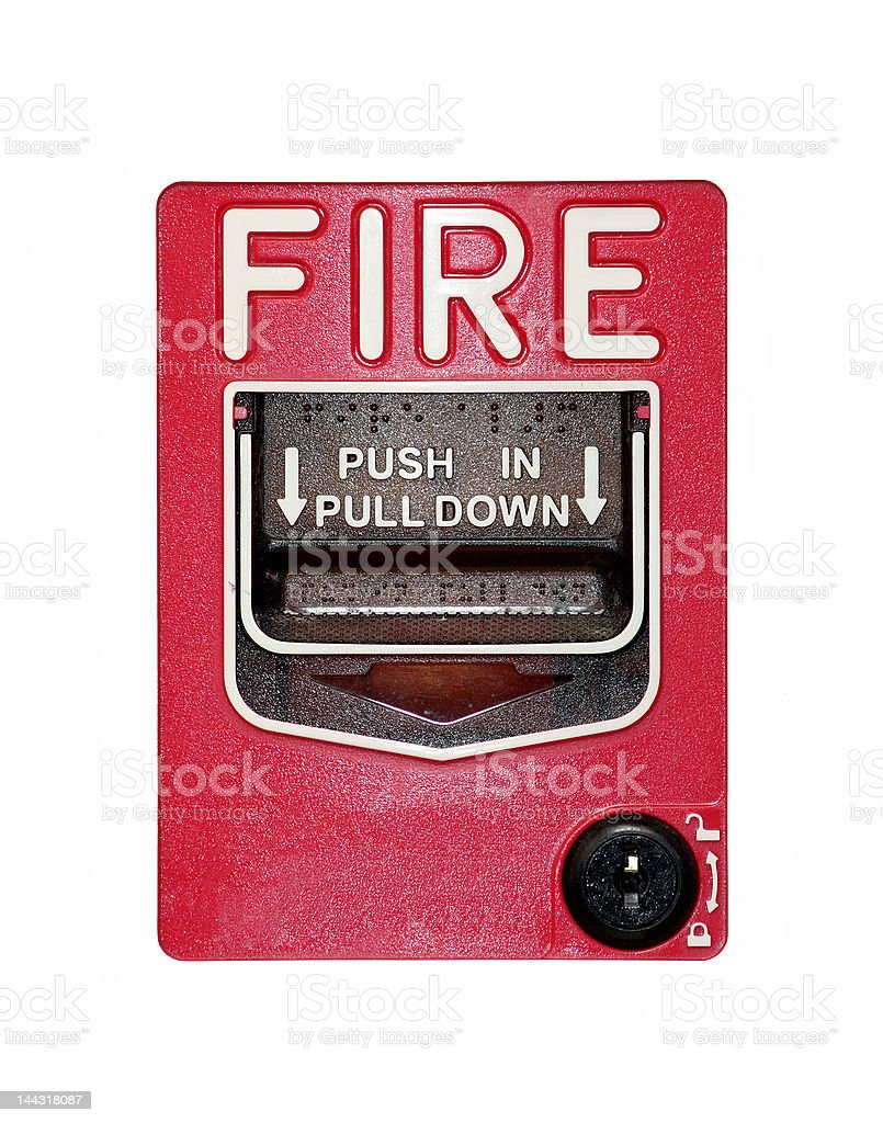 Isolated fire alarm. royalty-free stock photo
