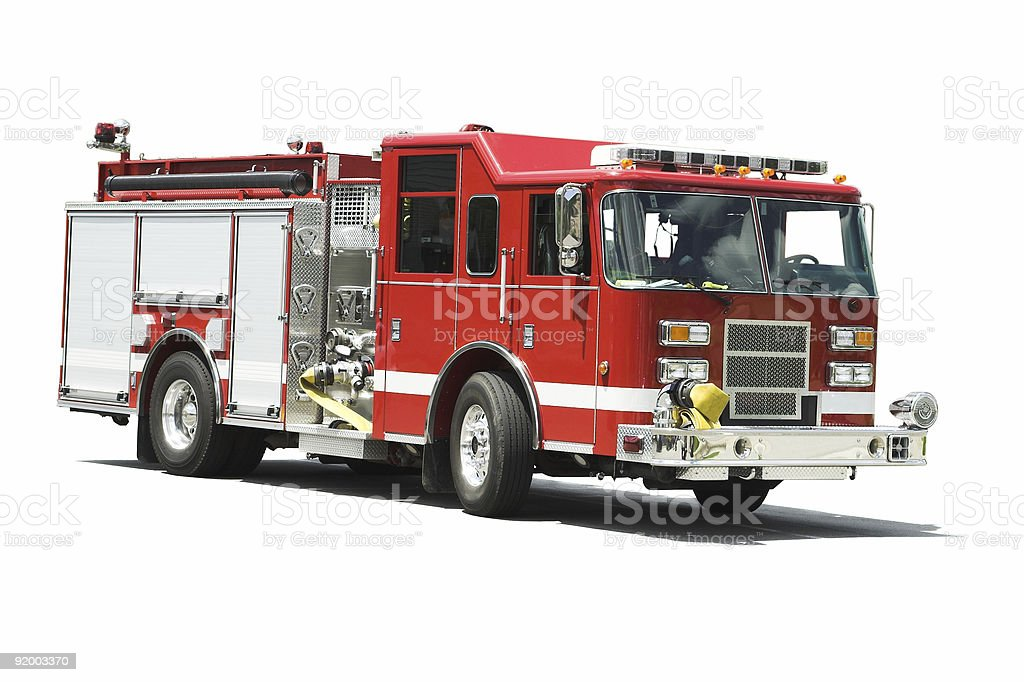 Isolated Fire Truck stock photo