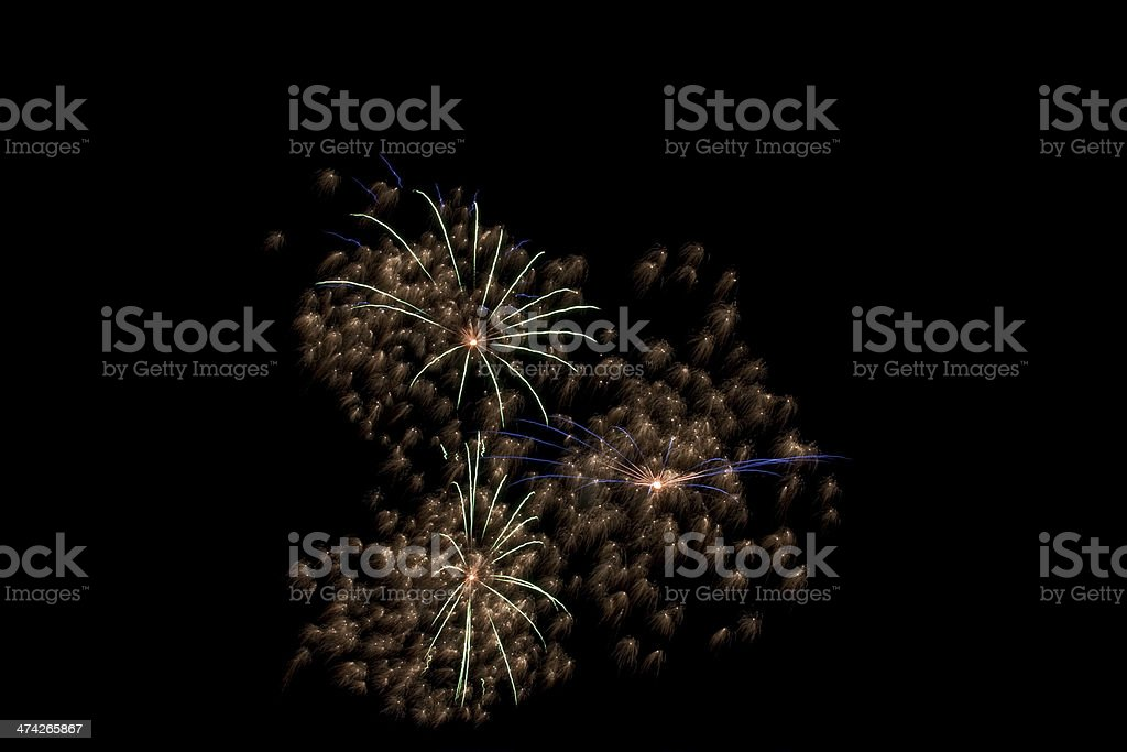 Isolated fireworks royalty-free stock photo