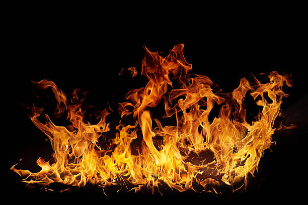Isolated Flames stock photo