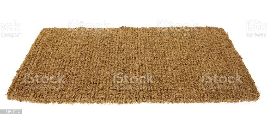 Isolated Floor Mat royalty-free stock photo
