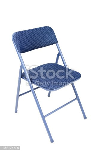 Folding chair isolated on white.Please also see: