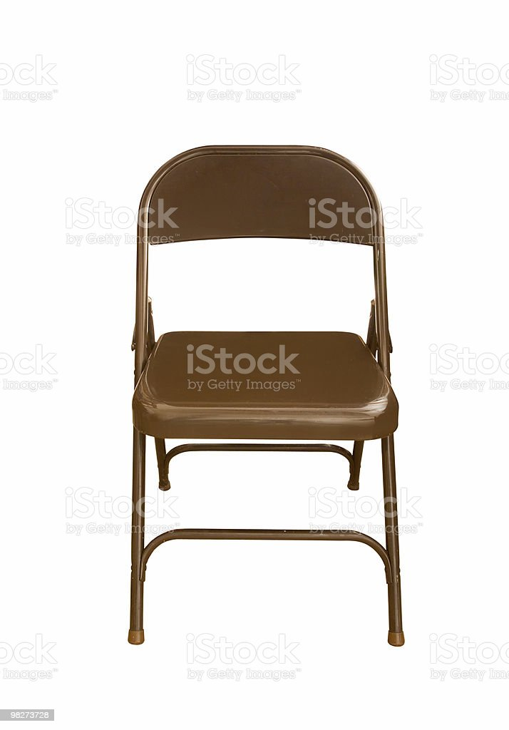 Isolated Folding Chair (clipping path) royalty-free stock photo