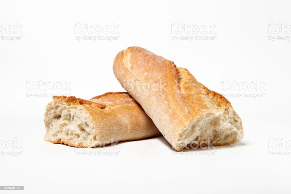 Isolated french baguette stock photo