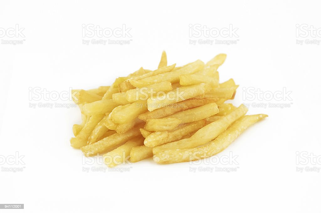 isolated french fries royalty-free stock photo
