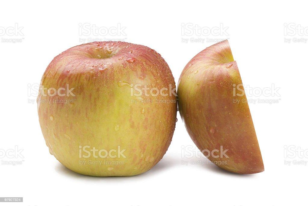 Isolated fresh apple fruit royalty-free stock photo