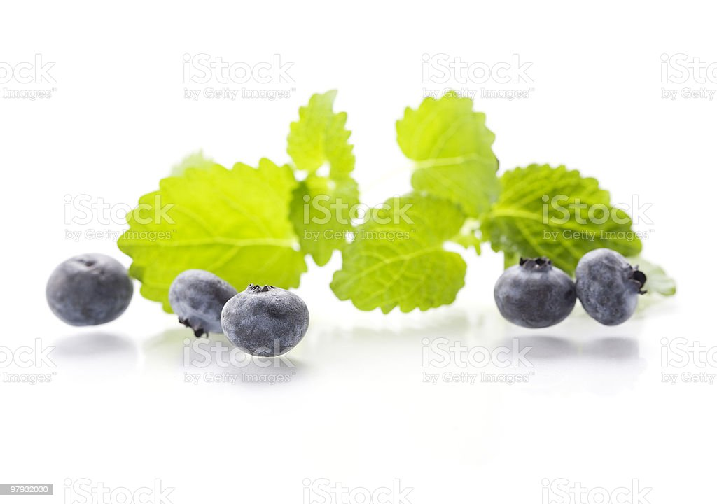 Isolated fresh berries with mint royalty-free stock photo