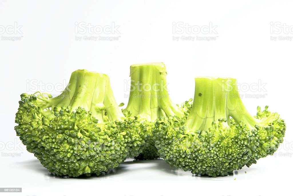 Isolated fresh broccoli pattern royalty-free stock photo