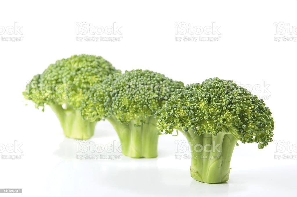 Isolated fresh broccoli royalty-free stock photo