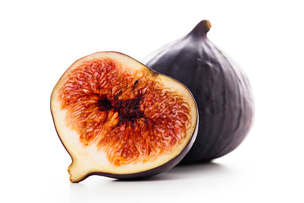 isolated fresh figs stock photo