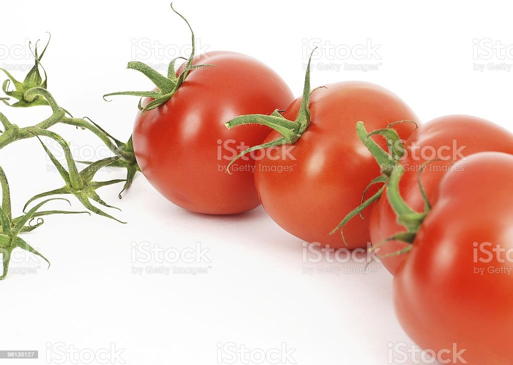 Isolated fresh tomatoes line pattern royalty-free stock photo