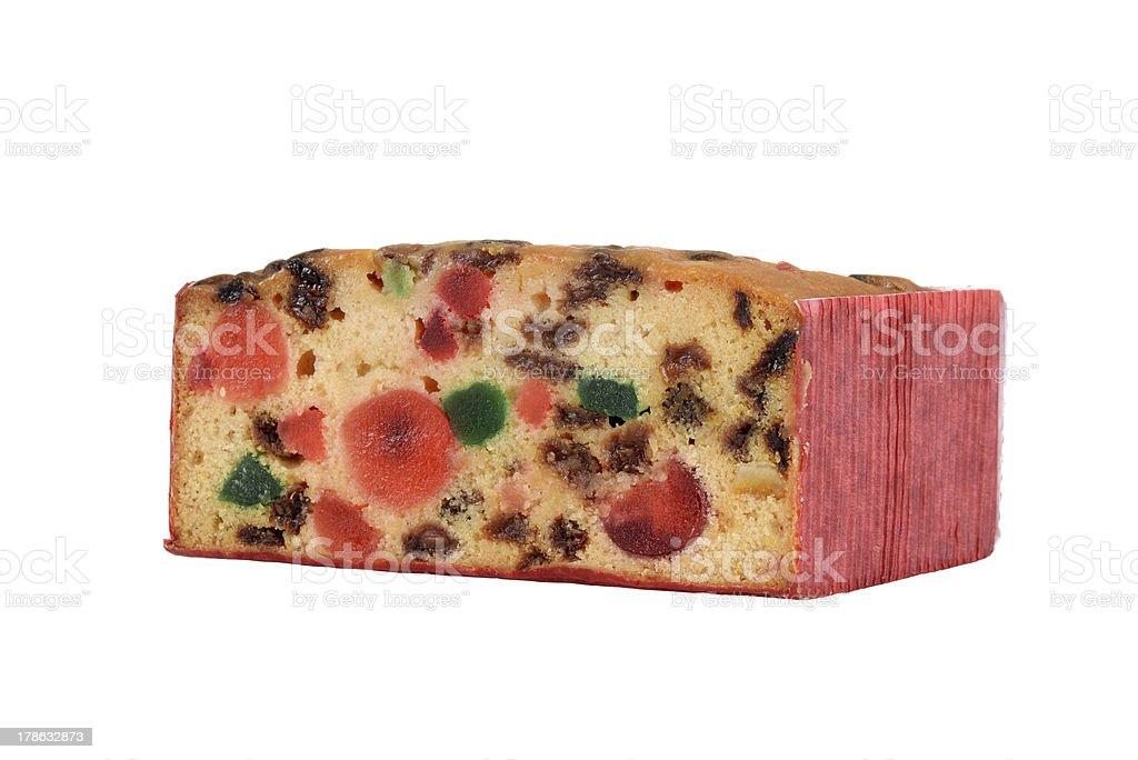 Isolated fruit cake stock photo
