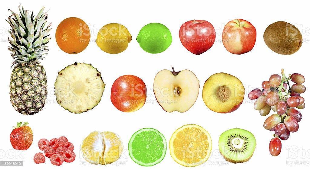 isolated fruits royalty-free stock photo