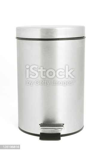 istock Isolated garbage bin with clipping path 125196816