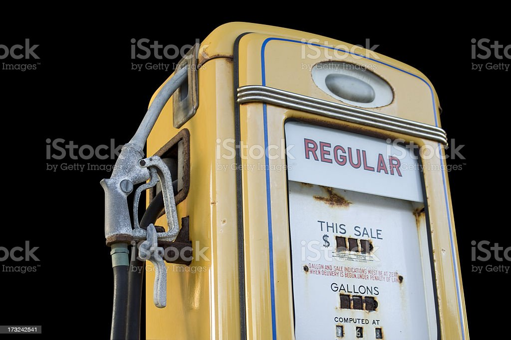 Isolated Gas Pump royalty-free stock photo