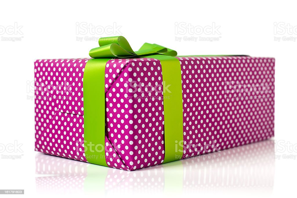 Isolated Gift Box stock photo
