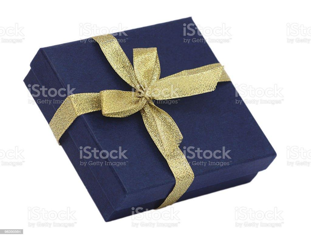 isolated gift box royalty-free stock photo