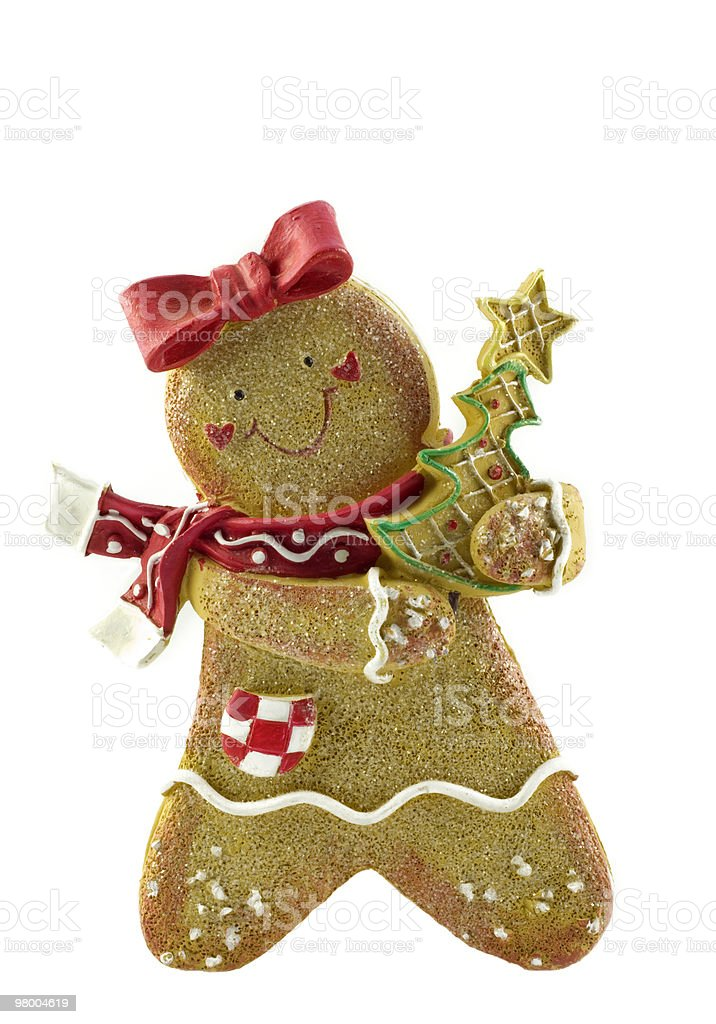 Isolated Gingerbread Ornament White Background royalty-free stock photo