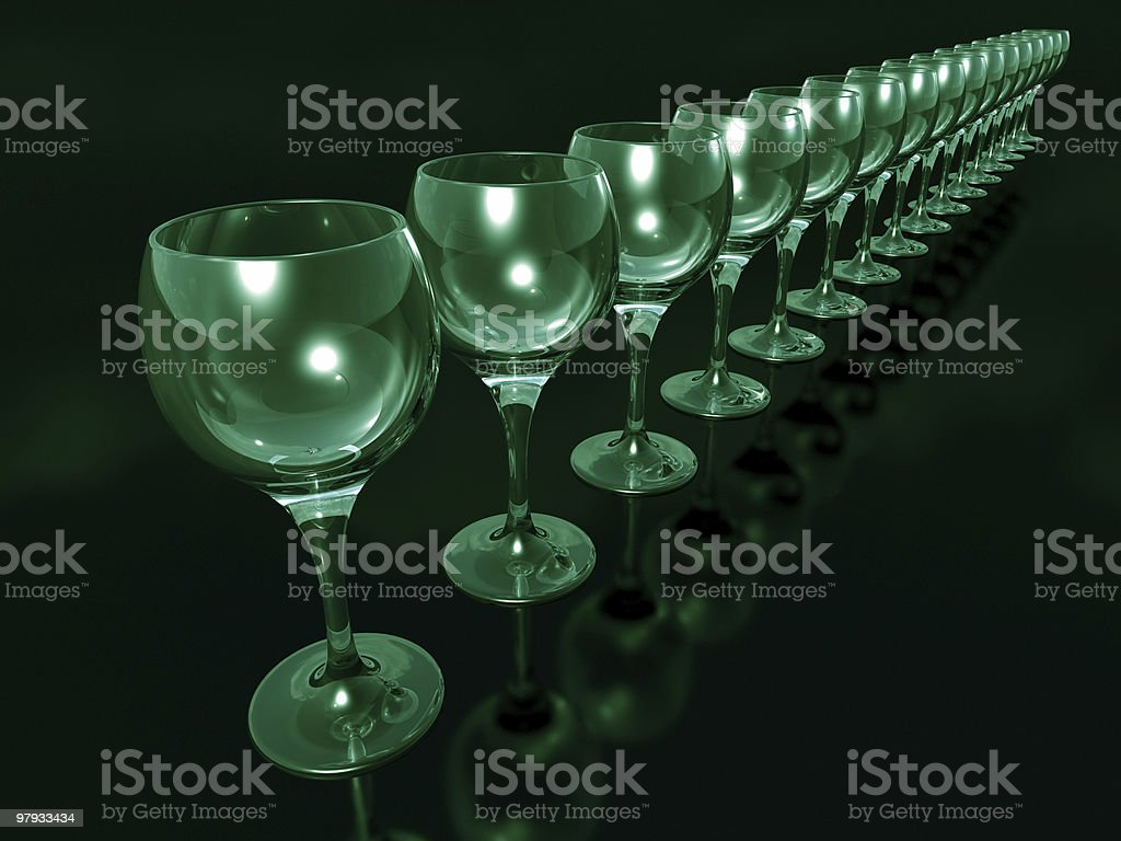 Isolated glass goblets royalty-free stock photo