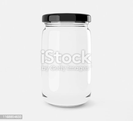 Isolated Glass Jar