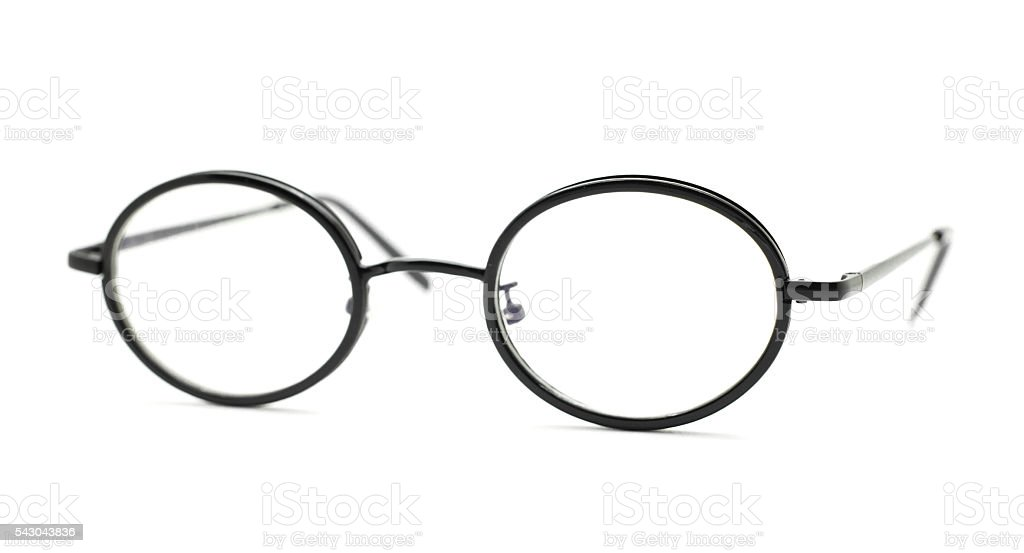 Isolated glasses on a white. stock photo