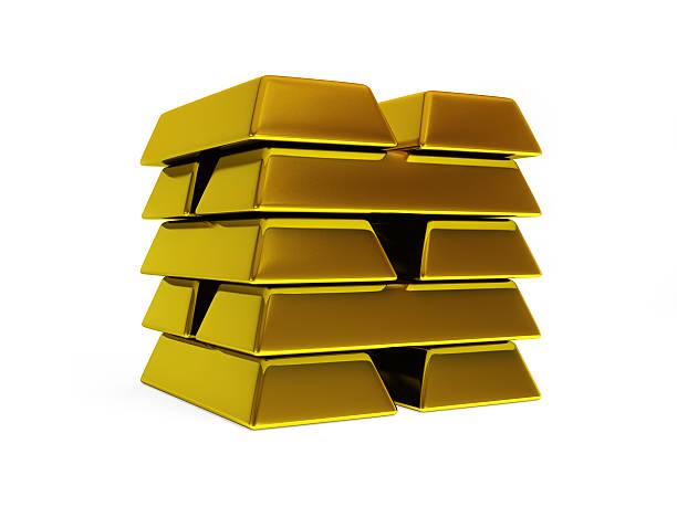 isoliert goldenen bars - aurum stock-fotos und bilder