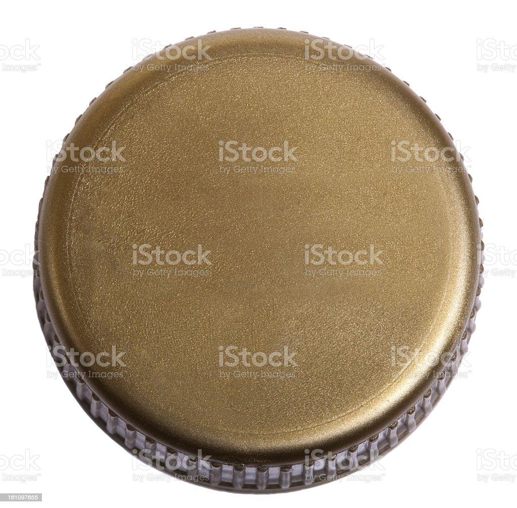 Isolated Gold Plastic Cap stock photo