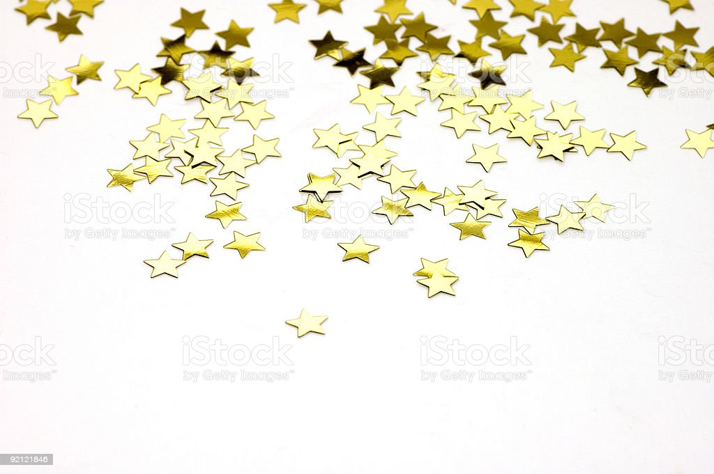 Isolated Golden Stars royalty-free stock photo