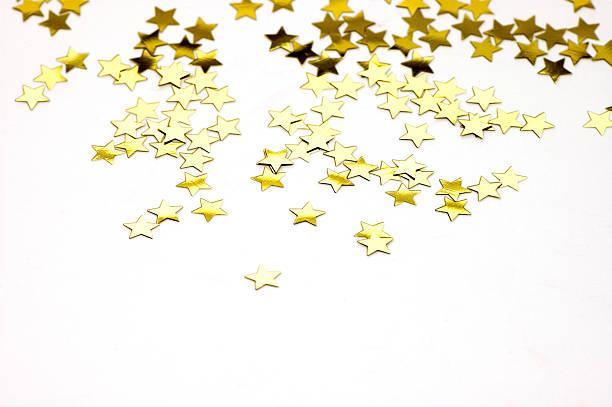 Isolated Golden Stars stock photo