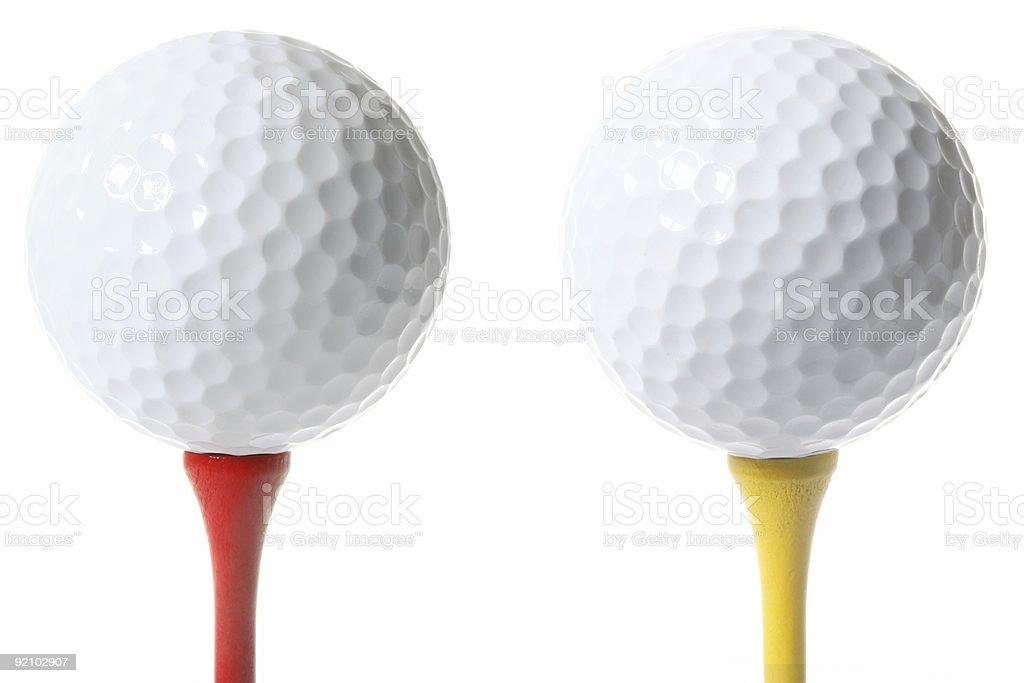 Isolated Golf Balls royalty-free stock photo