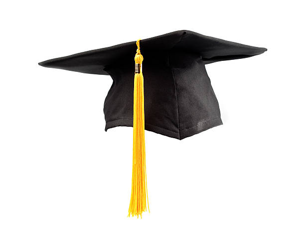 isolated graduation cap and tassel - graduation cap stock pictures, royalty-free photos & images