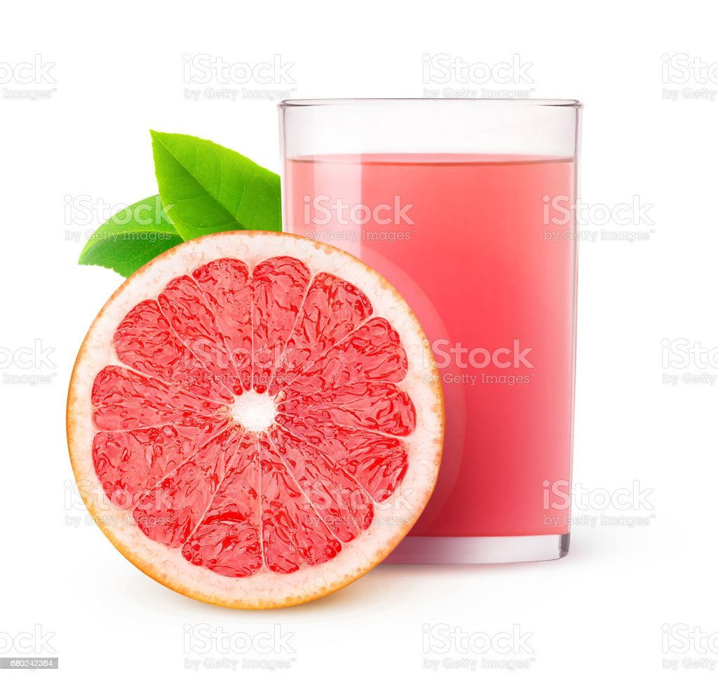 Isolated grapefruit juice stock photo