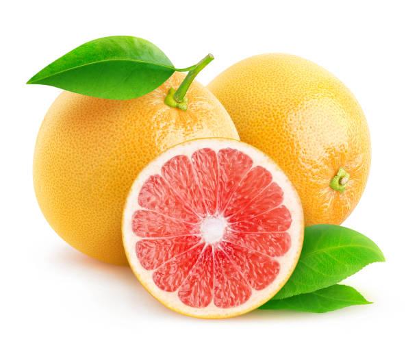 Isolated grapefruits stock photo