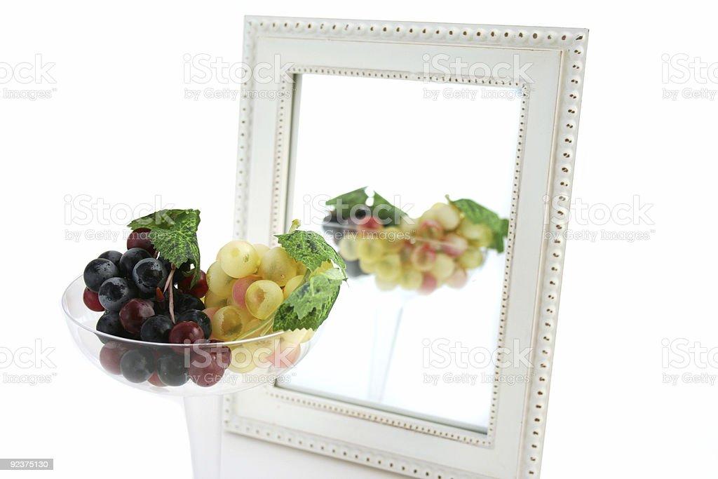 Trauben In einem Glas Isoliert Lizenzfreies stock-foto