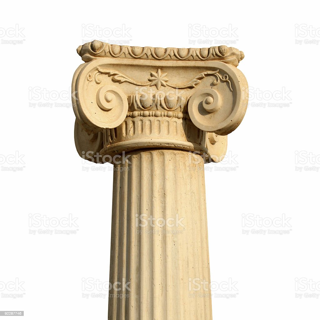 Isolated greek column royalty-free stock photo